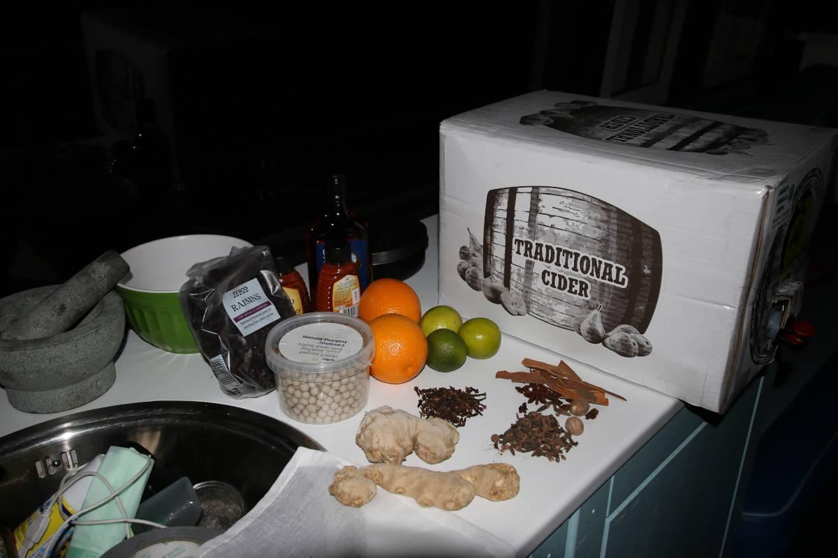 Image of The kit for making mulled cider from West Croft Farmhouse Janets Jungle Juice